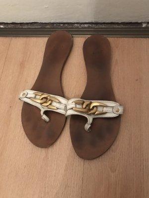 Zara Roman Sandals white-gold-colored