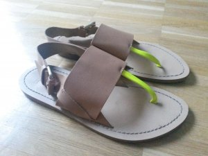 ZARA Sandalen 36 Nude/beige Sandaletten cos h&m