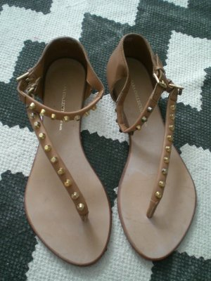 Zara Strapped Sandals light brown-gold-colored