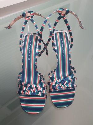 Zara Sandalias de tiras multicolor