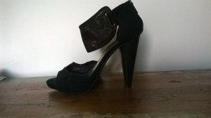 Zara Clog Sandals black synthetic fibre