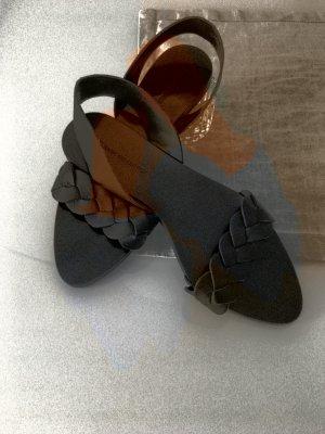 Zara sandalen echtes leder