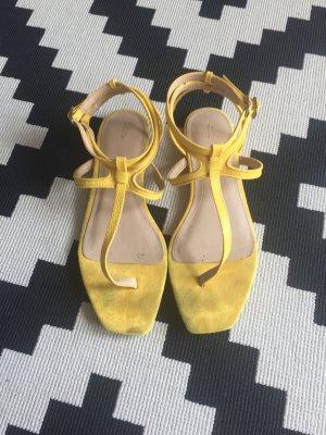Zara High-Heeled Sandals yellow