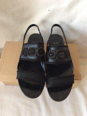 Zara Sandales noir faux cuir