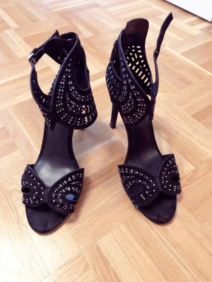 Zara High-Heeled Sandals black-silver-colored