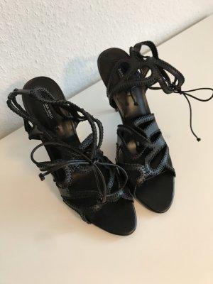 ZARA Sandalen mit Absatz High Heels mit Schnürung Schwarz Gr. 39 - NEU und ungetragen!