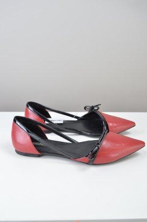 Zara Sandalen mit Schleife rot Größe 39