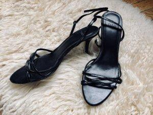 Zara Sandales à talons hauts et lanière noir