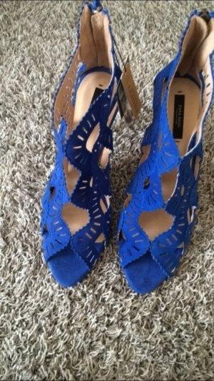 Zara Sandaletten Blau