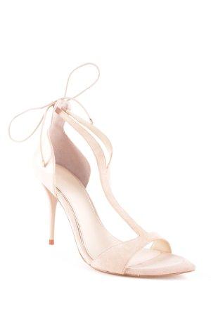 Zara High-Heeled Sandals cream elegant