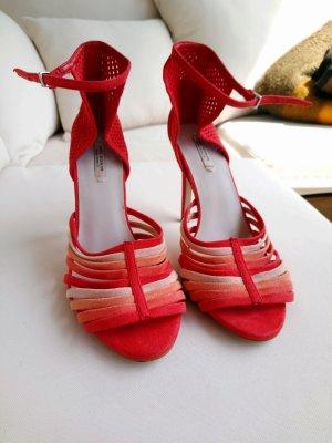 Zara Sandaletten High Heels Sommer Orange