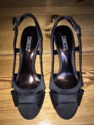 Zara Satin High Heel Sandaletten