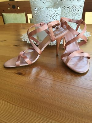 ZARA Satin Riemchen Pumps 37 Rose rosa