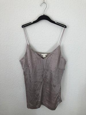 H&M Haut à fines bretelles gris-argenté