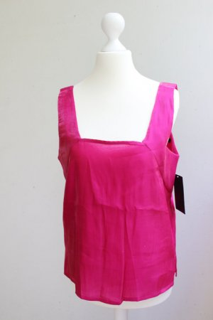 Zara Satin-Top, pink