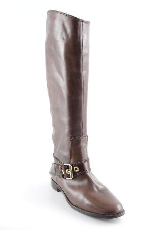 Zara Botas estilo militar marrón-color oro look casual
