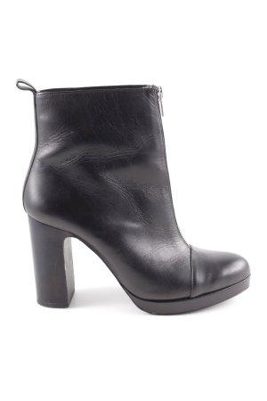 Zara Stivale militare nero stile casual