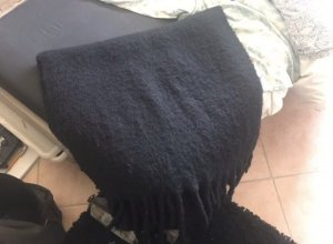 Zara Bufanda de lana negro