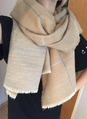 Zara Schal Nude kariert Blogger