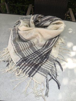 Zara Schal Tuch XXL weiß grau