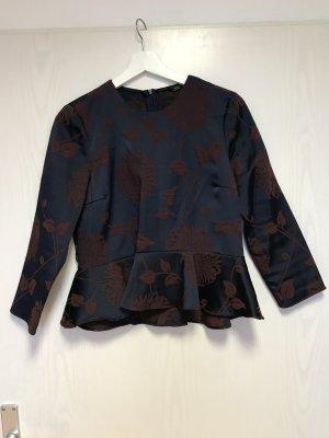 Zara Ruche blouse blauw-karmijn