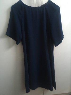 Zara Robe à manches courtes bleu foncé