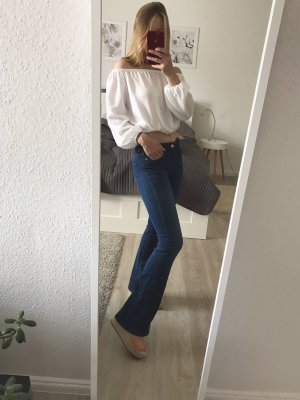 Zara Denim Flares blue