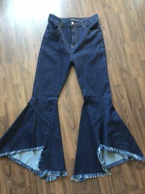 Zara Jeans flare bleu