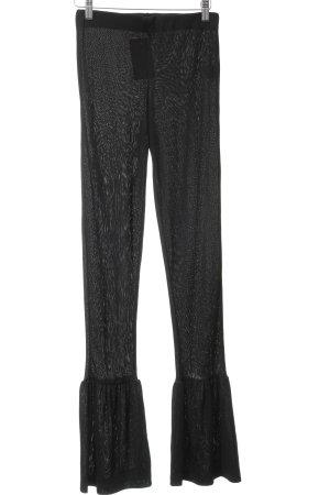 Zara Pantalón de campana negro look Street-Style