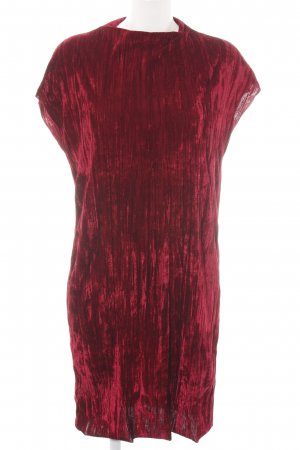Zara Tube Dress red wet-look