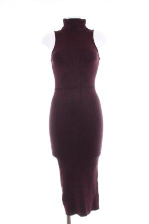 Zara Vestido de tubo púrpura moteado look casual