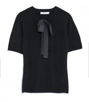 Zara Short Sleeve Sweater black