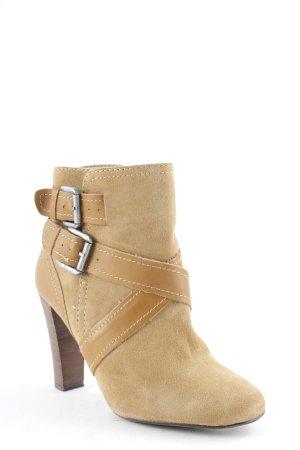 Zara Bottines à enfiler marron clair style mode des rues