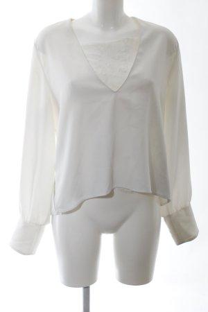 Zara Slip-over Blouse natural white business style