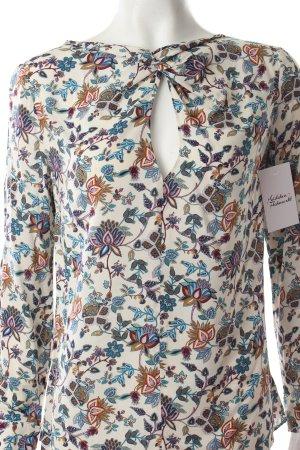 Zara Schlupf-Bluse florales Muster Knoten-Detail