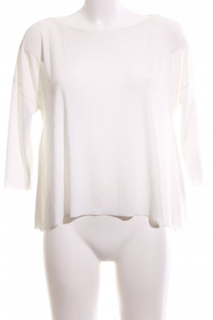 Zara Blusa caída blanco look casual