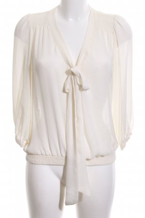 Zara Tie-neck Blouse cream business style