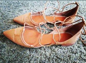Zara Basic Sandales à talons hauts et lanière bronze