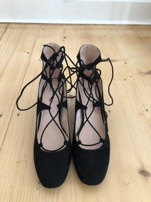 Zara Lace-up Pumps black