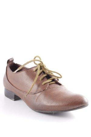 Zara Chaussures à lacets brun-cognac style décontracté