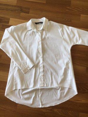 Zara Blouse-chemisier blanc tissu mixte