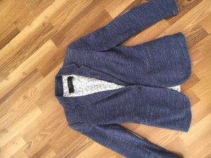 ZARA°Schöner Blazer dunkelblau-weiß°helle Badges Ellbogen°Taschen°Schlitz hinten°M/38° gebraucht kaufen  Wird an jeden Ort in Österreich
