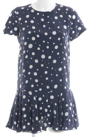 Zara Peplum Dress dark blue-white spot pattern casual look