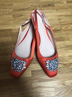 Zara Gesp-pumps neonoranje