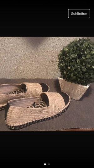 Zara Espadrille Sandals cream-beige