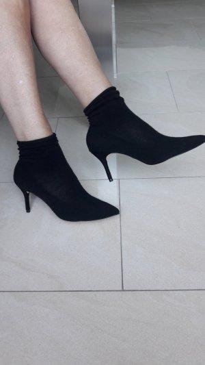 Zara Bottines plissées noir