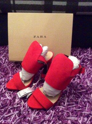 Zara Chaussures rouge brique