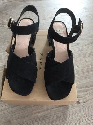 Zara Sandale d'extérieur noir