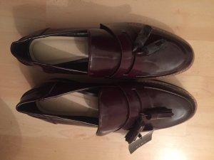Zara Chaussures basses noir-bordeau