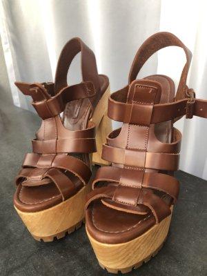 Zara Schuhe Sommer Sandalen Highheels mit Plateauabsatz